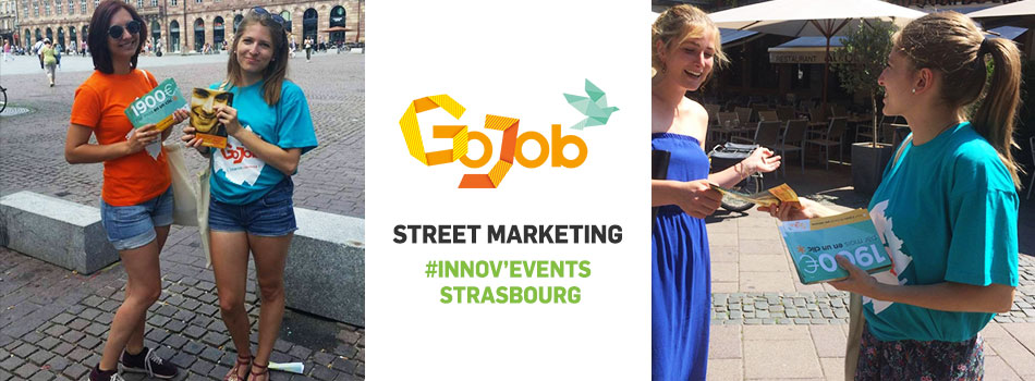 innov 39 events strasbourg op ration street marketing pour gojob. Black Bedroom Furniture Sets. Home Design Ideas