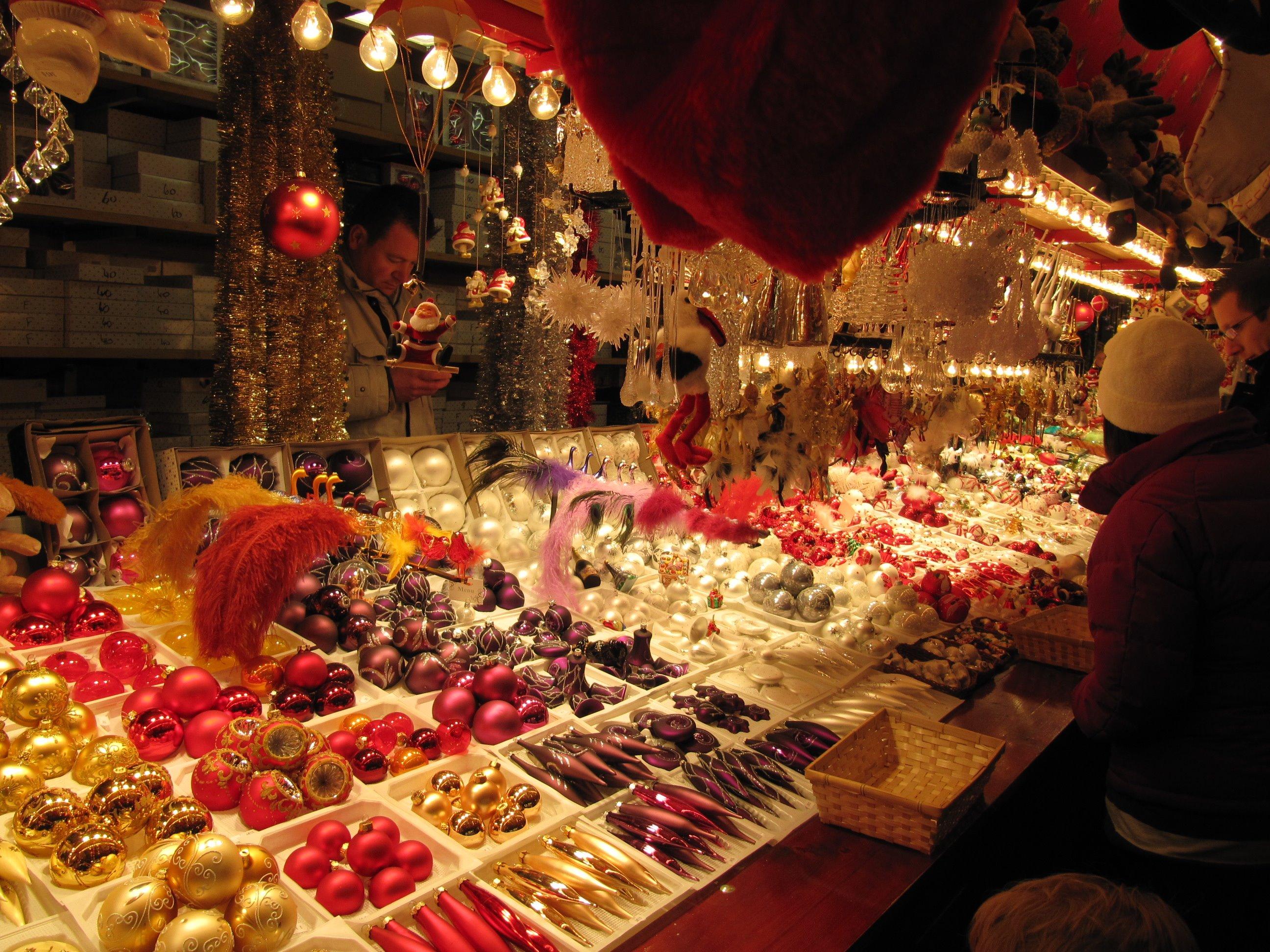 visite marché de noël en entreprise
