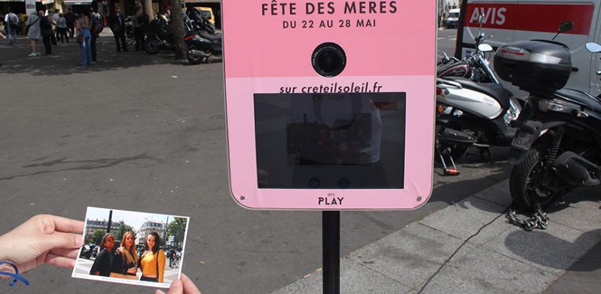 marketing de rue photocall