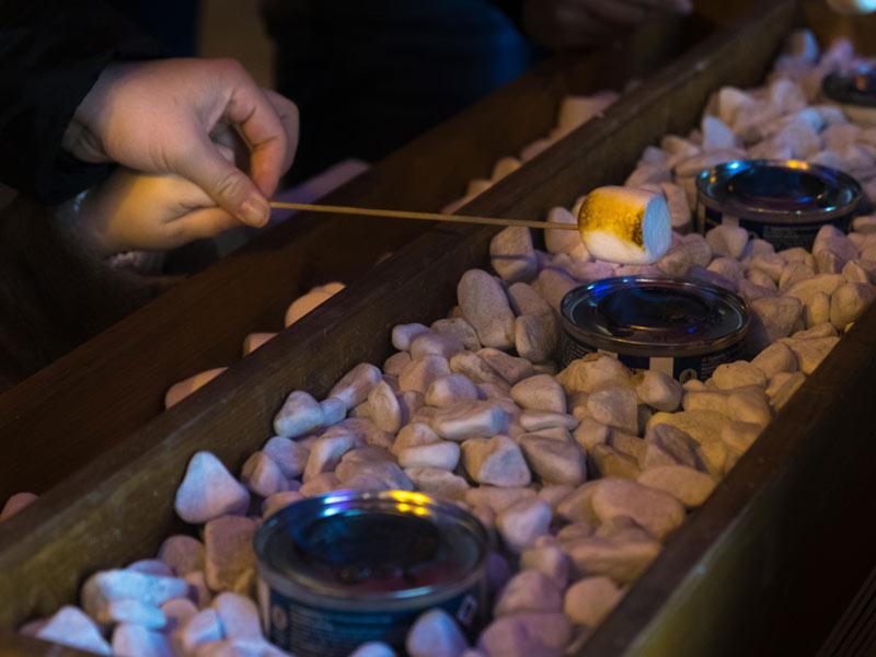bar à chamallows inauguration entreprise lancement de produits