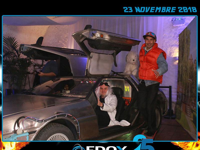 louer DeLorean soirée thème lancement produits inauguration