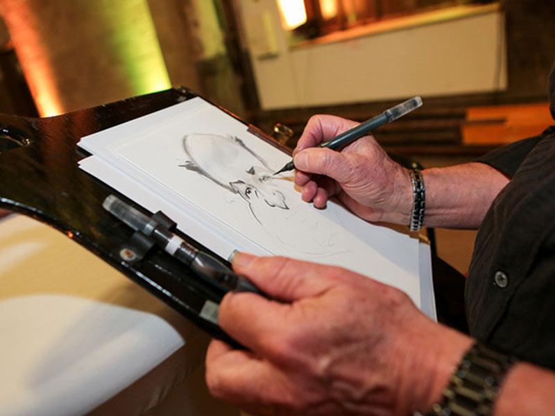 caricaturiste événement entreprise