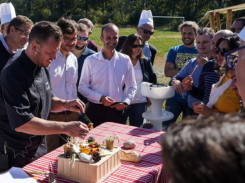 show cooking inauguration entreprise lancements produits soirée gala