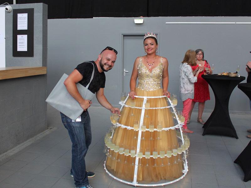 robe à champagne repas collaborateurs anniversaire entreprise