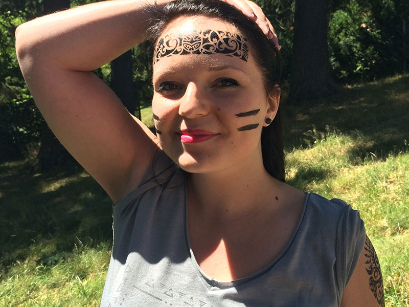 animation tatouage maquillage maori haka garden party entreprise