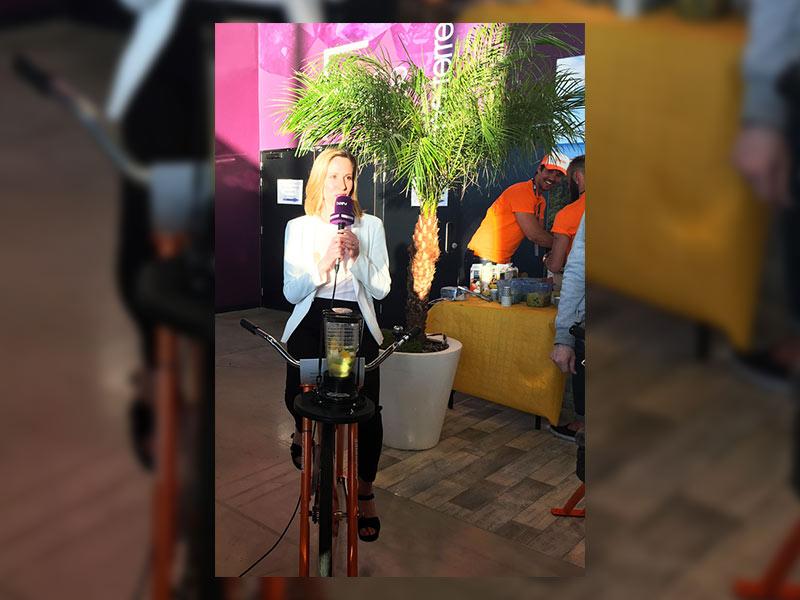 animation vélo blender garden party fête noël repas collaborateurs entreprise