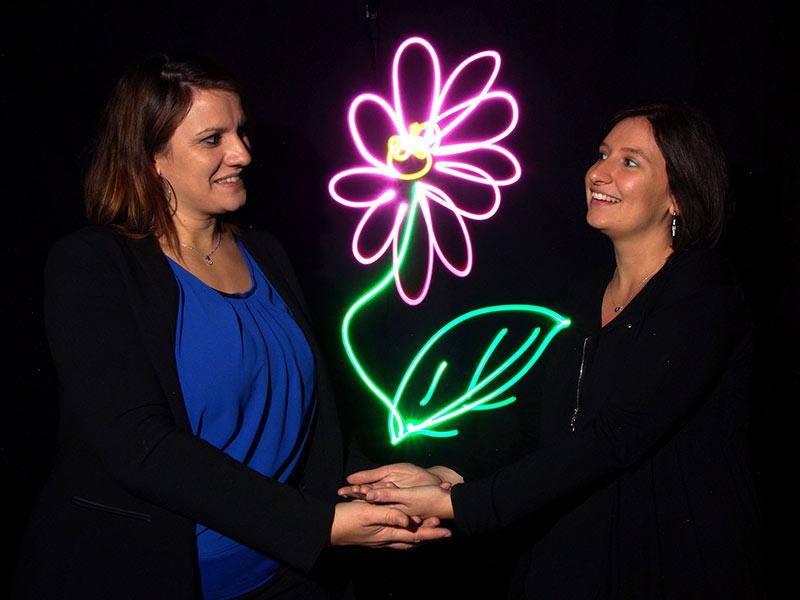 activité light painting original soirée entreprise lancement