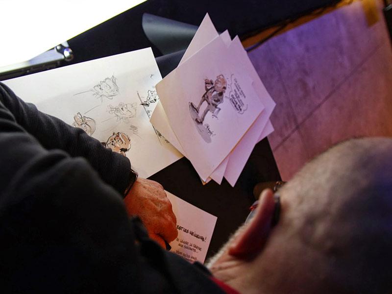 caricaturiste animation vœux entreprise
