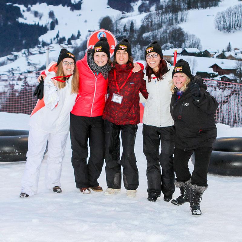 animation ski luge anniversaire entreprise annecy