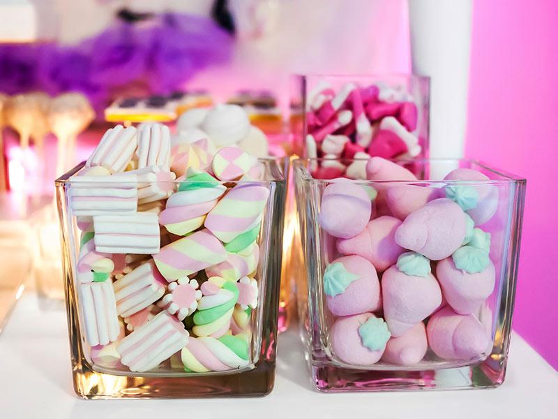 bar à marshmallows soirée gala anniversaire entreprise repas collaborateurs