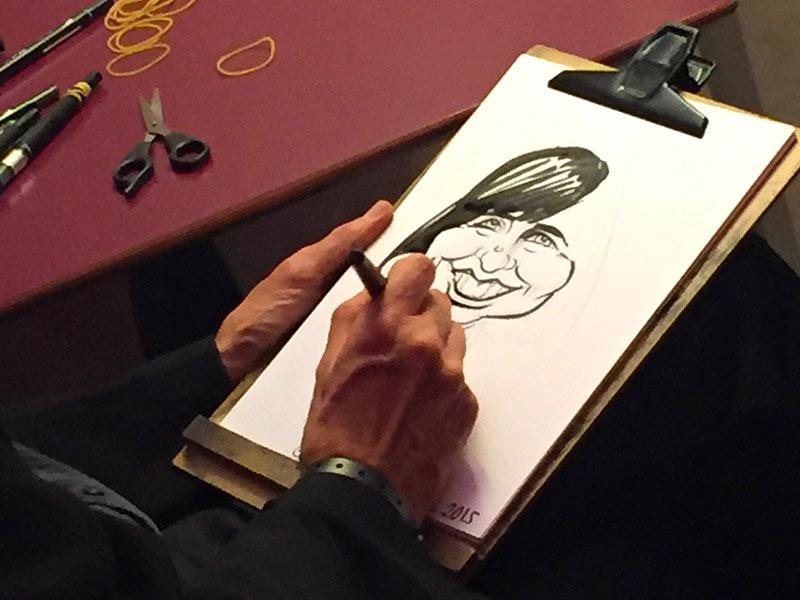 caricaturiste événement entreprise animation anniversaire
