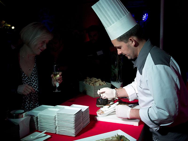 show cooking inauguration entreprise lancement produits garden party