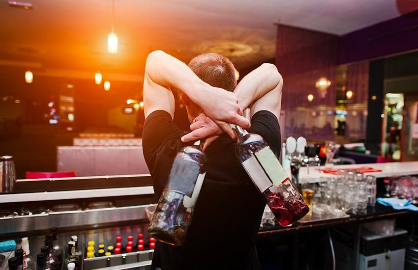 barman pour événement d'entreprise