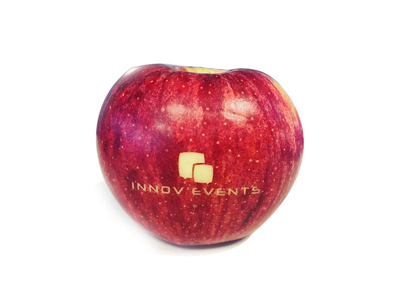 gravure laser pomme logo entreprise repas collaborateurs entreprise gala