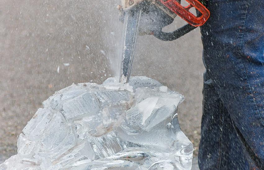 sculpture glace événementiel