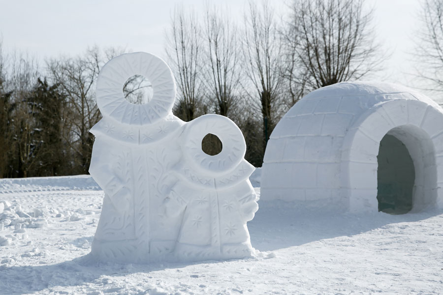 animation construction igloo