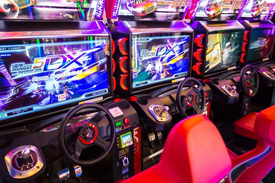 animation jeux arcades