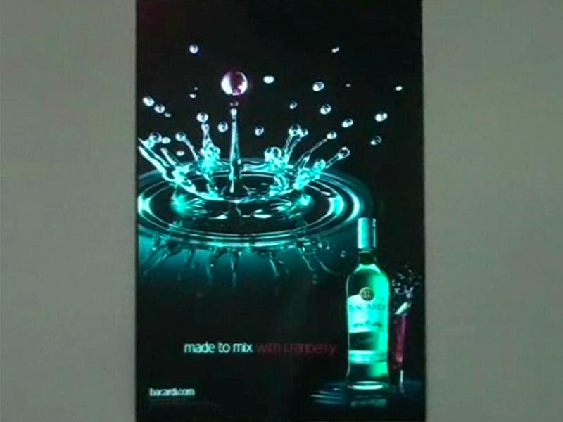 flocage fluo affiche publicitaire entreprise