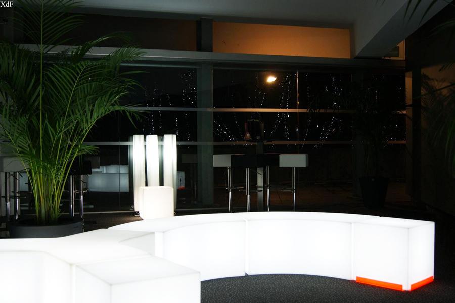 mobilier lumineux location evenement