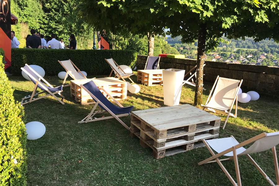 mobilier lumineux location garden party evenement