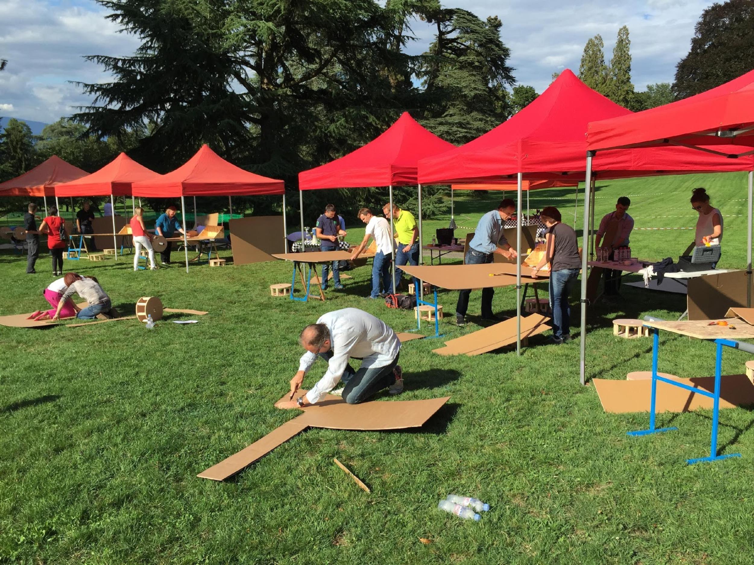 construction formule 1 en carton team building lyon