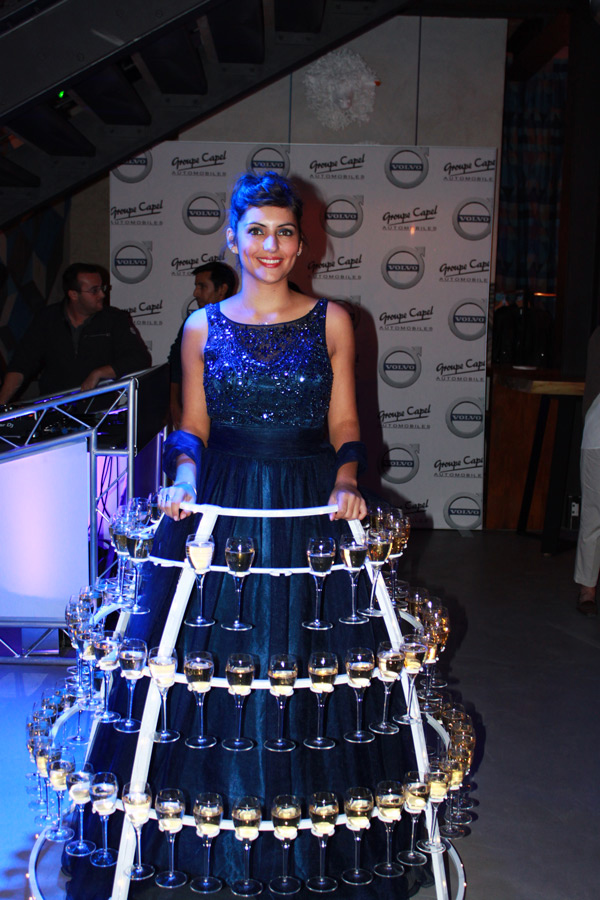robe à champagne animation événement